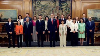 Meest vrouwelijke ooit in Spanje: nieuwe regering legt de eed af