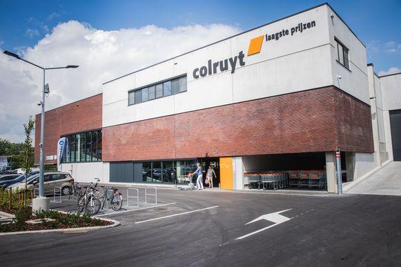 De nieuwe Colruyt langs de Kortrijksesteenweg in Sint-Denijs-Westrem.