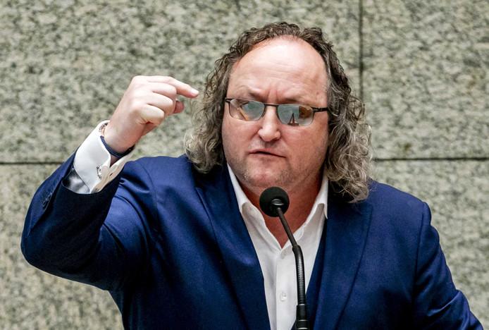 Kamerlid Dion Graus (PVV) in de Tweede Kamer