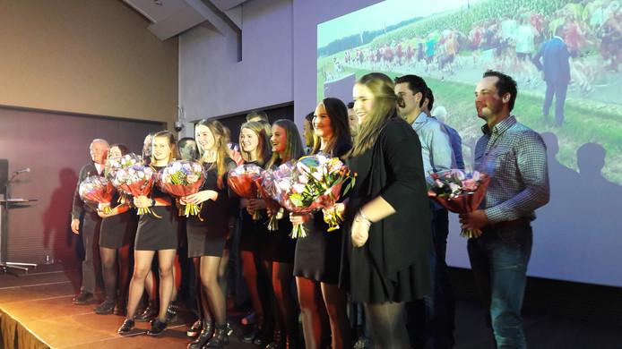 De winnaars van het sportgala Dinkelland.