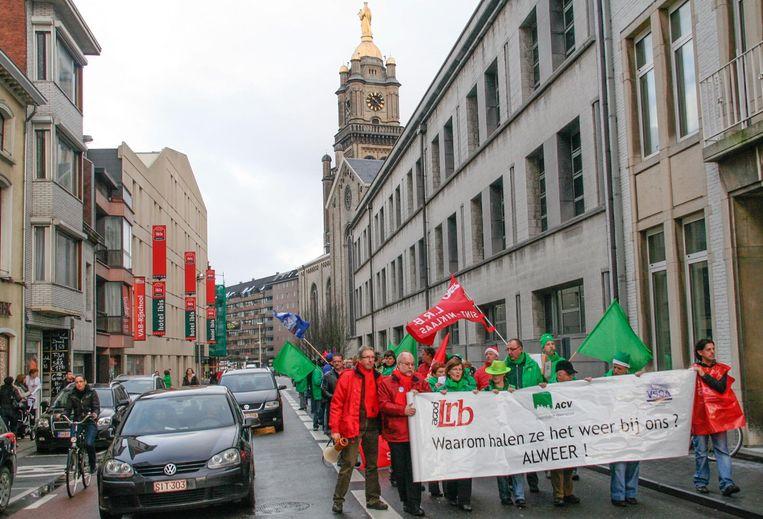 De besparingen bij het stadspersoneel leverden aan het begin van deze bestuursperiode veel protest op.