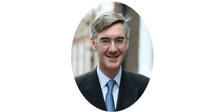 Jacob Rees-Mogg. Beeld null