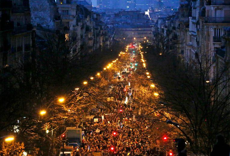 Parijs, gisteravond. Beeld reuters