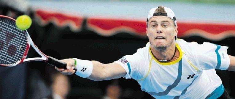 Lleyton Hewitt, de laatste Australische finalist tijdens de Australian Open. De 29-jarige tennisser behoort niet meer tot de wereldtop. ( FOTO AFP) Beeld AFP