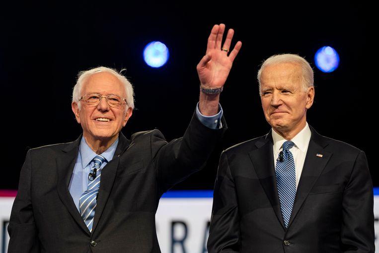 Bernie Sanders en Joe Biden