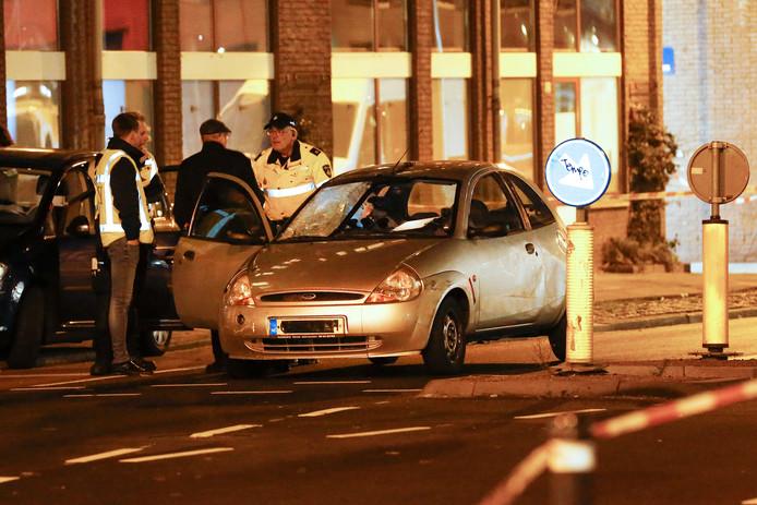 De reconstructie van het ongeval met de auto van de verdachte op zondagavond 11 november.