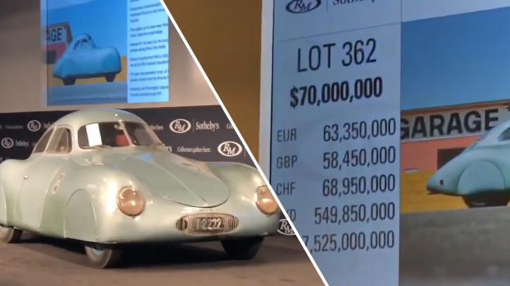 Allereerste Porsche niet geveild door blunder veilingmeester