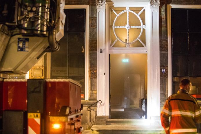 De brand veroorzaakte enorme schade in het Stedelijk Museum van Zwolle.