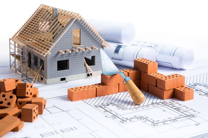 Huizen bouwen.