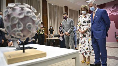 Koning Filip en koningin Mathilde bezoeken Instituut voor Tropische Geneeskunde
