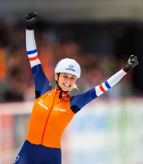 Schouten schaatst naar zege in Zweden