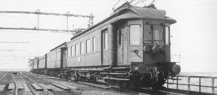 Het authentieke treinstel, hier nog vol in actie.