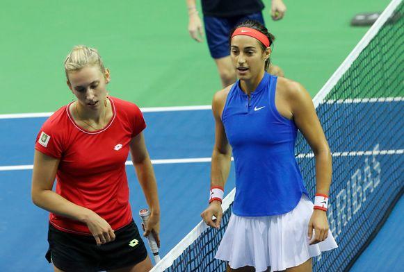 Mertens verloor gisteren tegen Caroline Garcia.