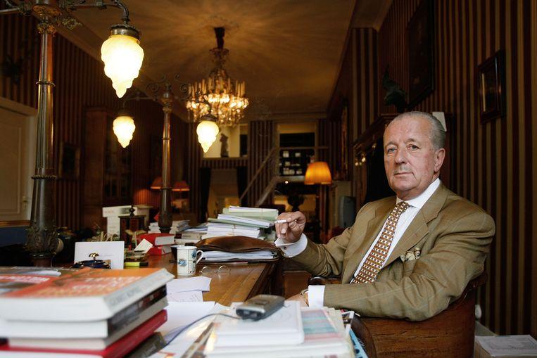 Advocaat Theo Hiddema in zijn kantoor. Beeld anp