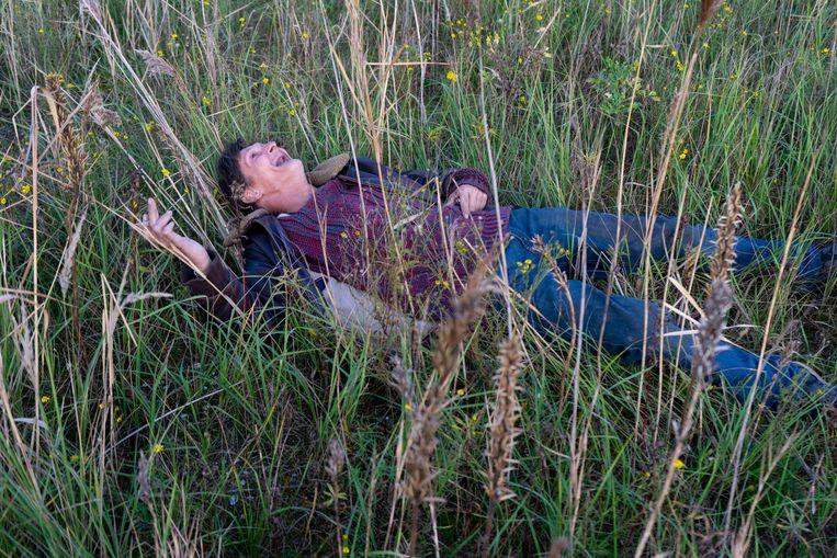 Ronnie in het gras.  Beeld Nynke Brandsma