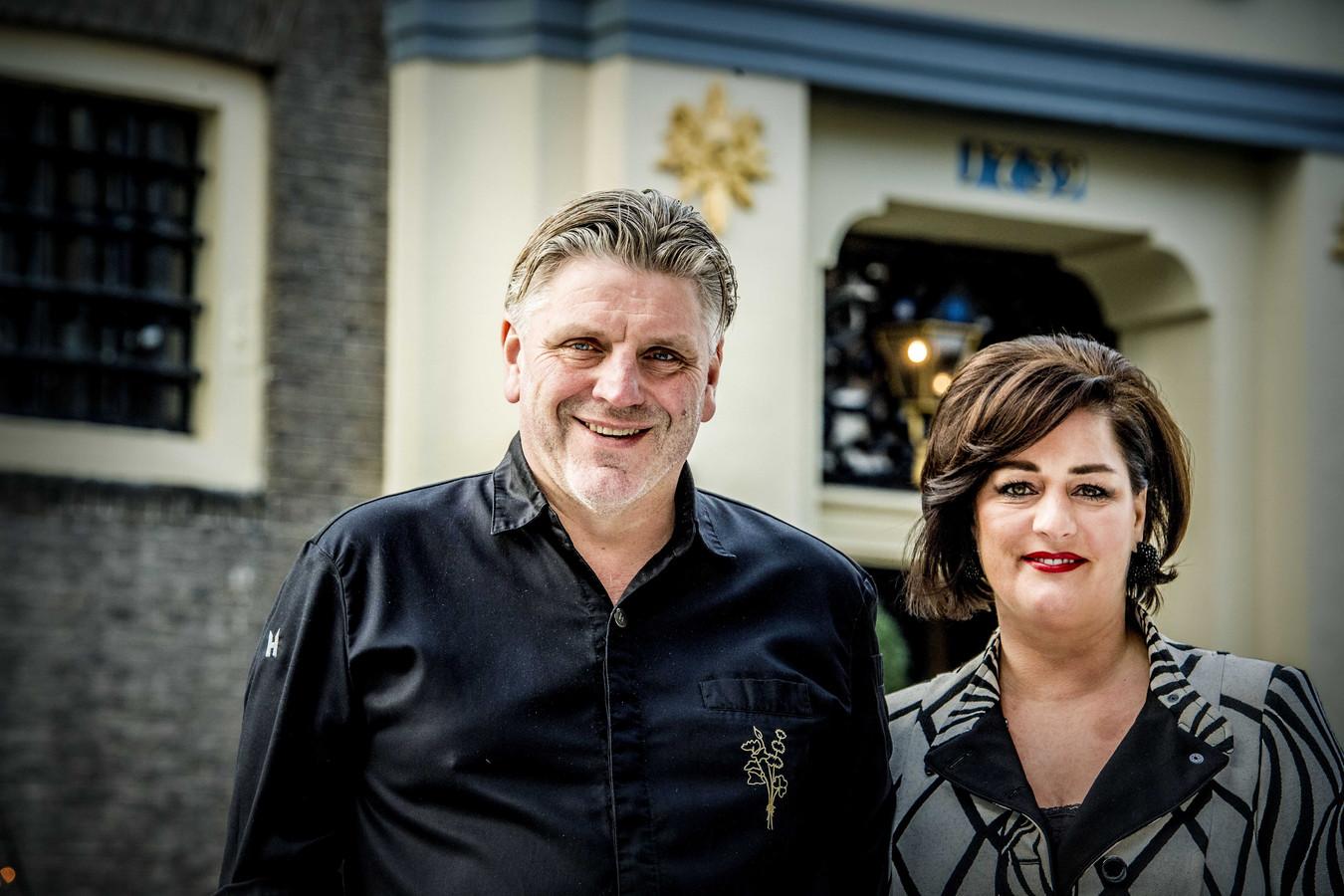 Eigenaar en chef-kok Jonnie Boer en zijn vrouw Thérèse van 3-sterrenrestaurant De Librije in Zwolle.