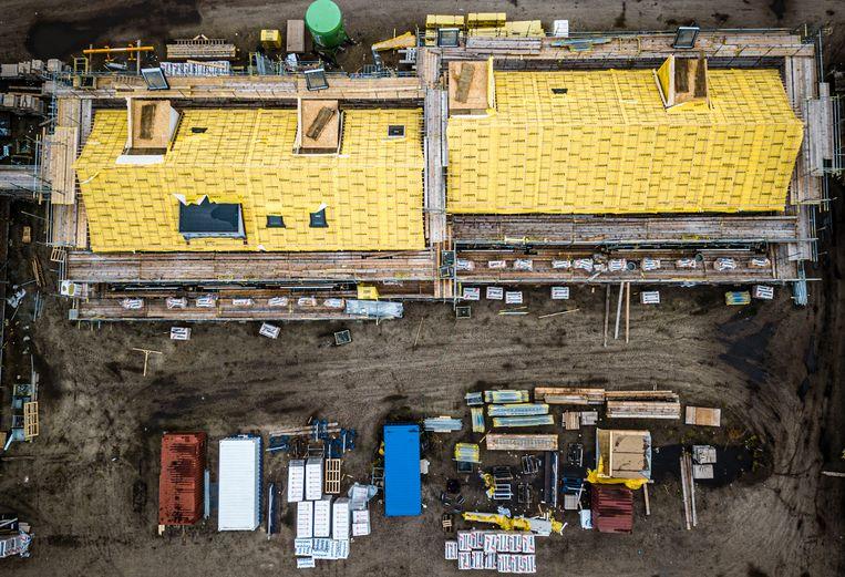 Minister Ollongren wil 75 duizend woningen per jaar erbij bouwen. Na 2025 wordt het weer minder. Beeld Hollandse Hoogte / Rob Engelaar