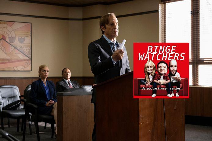Bob Odenkirk (voorgrond) en Rhea Seehorn in de serie Better Call Saul.