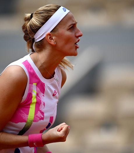 Petra Kvitova dans le dernier carré à Roland-Garros