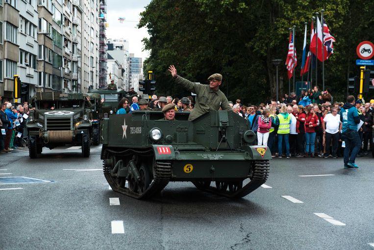 Eerder vond al de bevrijdingsparade in de straten van Antwerpen plaats.