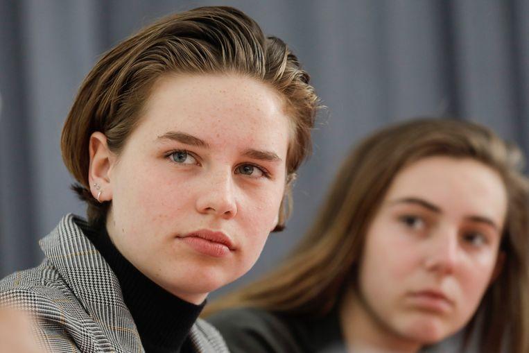 Anuna De Wever en Adélaïde Charlier van Youth For Climate.