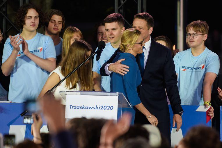 Rafal Trzaskowski, de burgemeester van Warschau. Beeld Getty Images