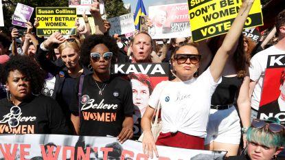 """""""Verraad de vrouwen niet"""": duizenden mensen protesteren in Washington tegen Kavanaugh"""