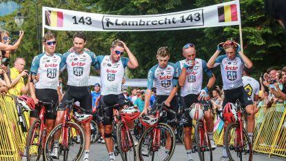 Geneutraliseerde rit voorbij, aangeslagen ploegmakkers Lambrecht haken aan finish in mekaar
