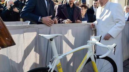 Paus Franciscus ontvangt wielerpaus Sagan
