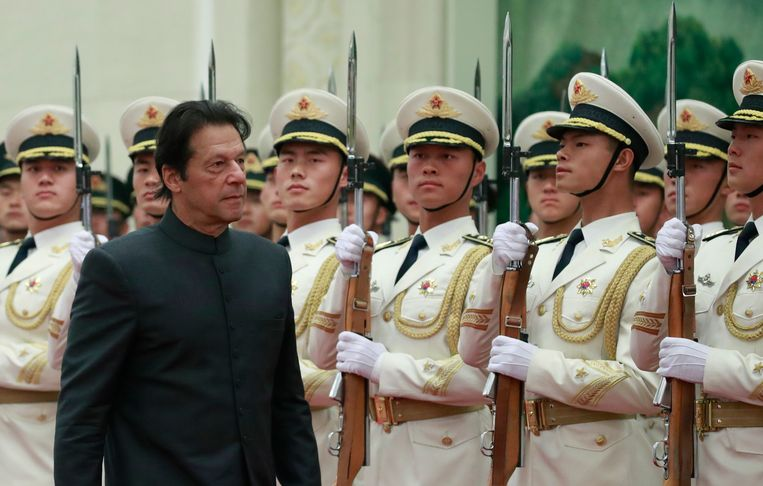 De Pakistaanse premier Imran Khan. Beeld EPA