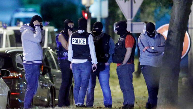 Politieagenten van de Franse antiterroristenbrigade