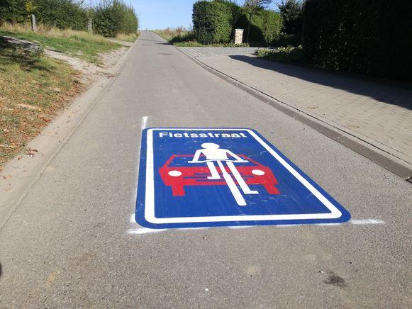 Er komen in de toekomst nog fietsstraten zoals hier in de Paddenbroekstraat in Gooik