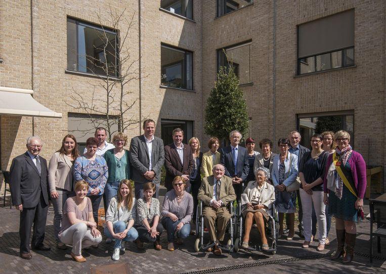 Albert en Maria vierden met de hele familie hun 75ste huwelijksverjaardag.