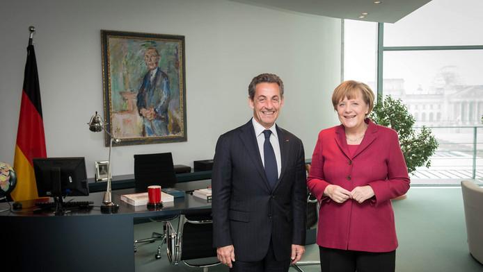 Nicolas Sarkozy et Angela Merkel réunis.
