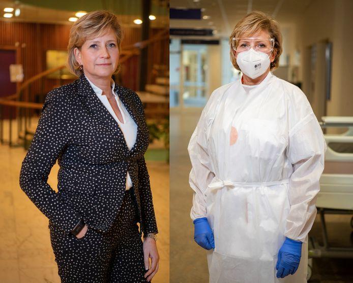Lia de Waard: links als wethouder, rechts op de intensive care.