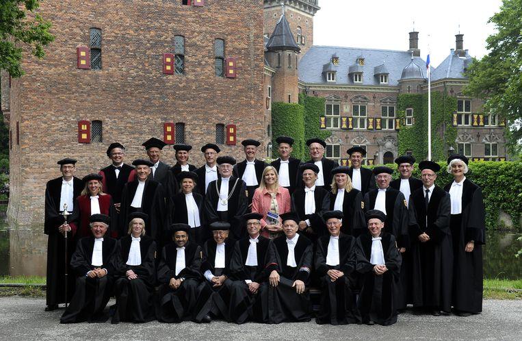 Máxima bij de oratie van prof.dr.ir. Gert van Dijk op Nyenrode Business Universiteit Beeld anp
