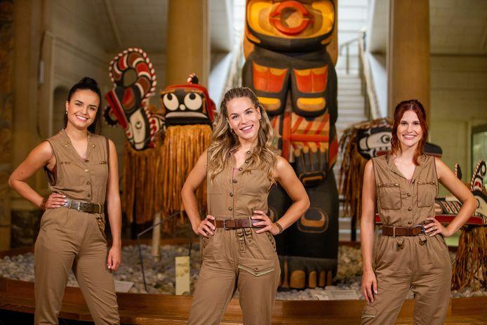 De meisjes van K3 op de set van 'Dans van de Farao'