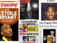Sous le choc, la presse mondiale rend hommage à la légende Kobe Bryant