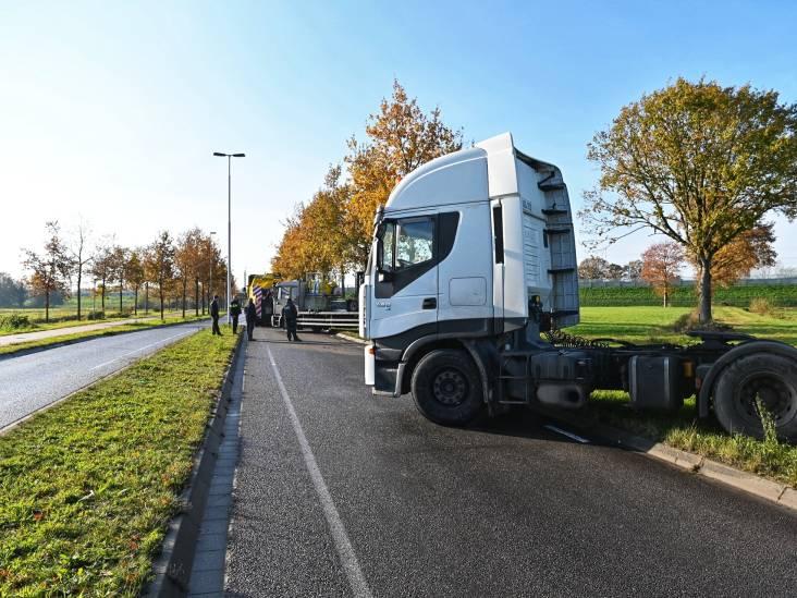 Truck blokkeert Rijsbergseweg in Breda
