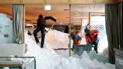 VIDEO. Lawine dondert restaurant van hotel binnen in Zwitserland