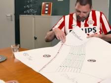 Theo Maassen 'solliciteert' in PSV-shirt naar burgemeesterschap Amsterdam