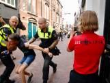 Rake klappen tijdens oefening mobiele eenheid