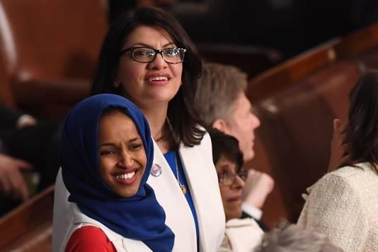 Ilhan Omar (links) en Rashida Tlaib