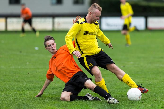 Een eerdere wedstrijd van SV Ruwaard tegen Maaskantse Boys.