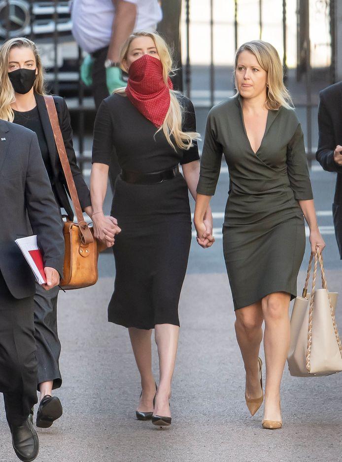 Amber Heard arrivant au procès.