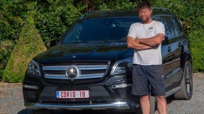 """Unieke COVID-19-nummerplaat: """"Mijn auto is mijn bubbel na 15 uur hard werken en dan heb ik graag 1,5 meter ruimte rond mij"""""""