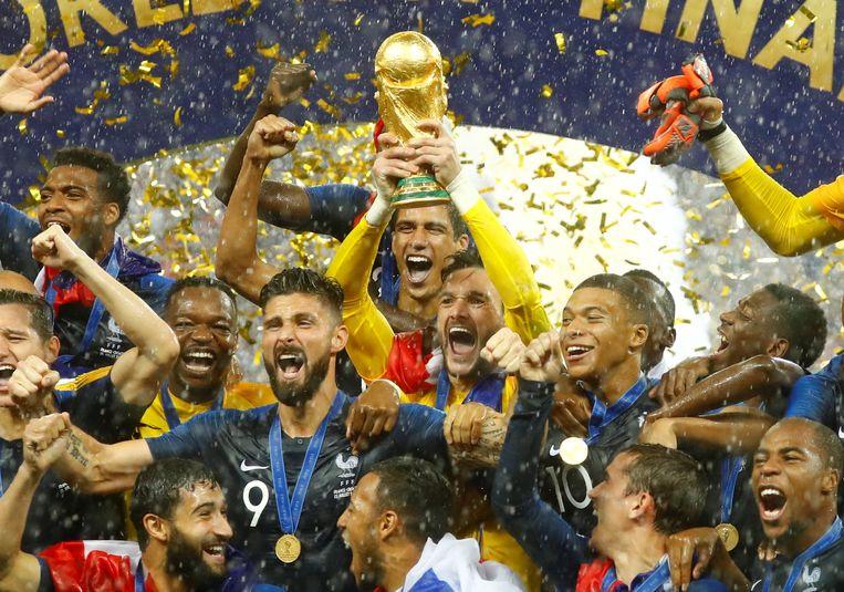 Frankrijk won het meest recente WK in Rusland.