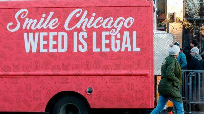 Inwoners Chicago trotseren kou om legale wiet te gaan kopen