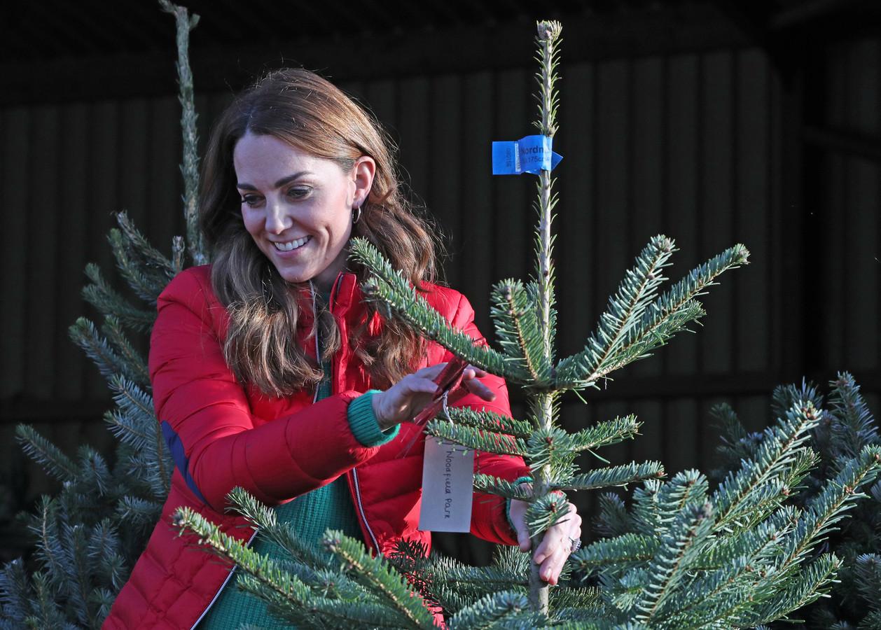 Kate Middleton bij de  Peterley Manor Farm in Buckinghamshire.