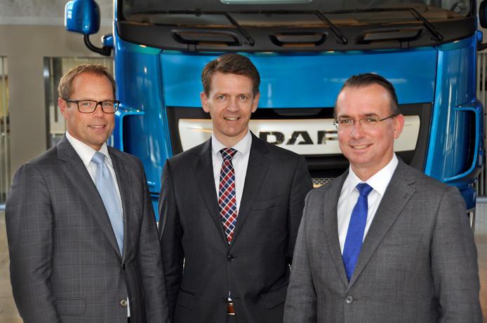 Harry Wolters, Jos Habets en Harald Seidel krijgen een nieuwe functie in de raad van bestuur van DAF.